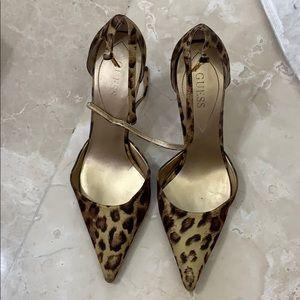 Guess animal print heels